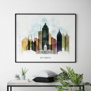 Atlanta City Print Urban 2 Landscape Second