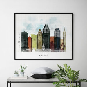 Austin City Print Urban 2 Landscape Second