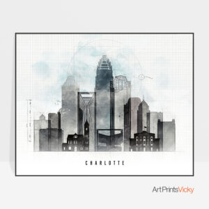 Charlotte Print Urban 1 Landscape