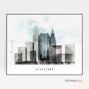 Cleveland Print Urban 1 Landscape
