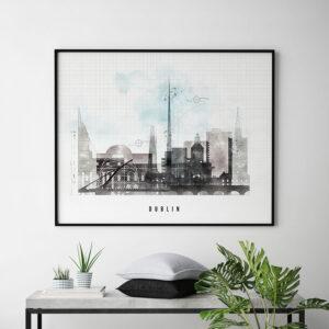 Dublin City Print Urban 1 Landscape Second