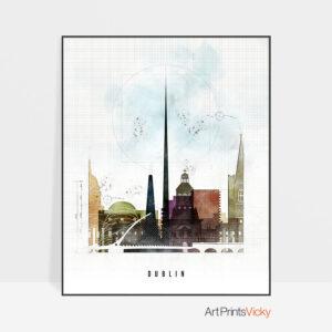 Dublin Skyline Print Urban 2