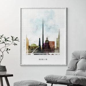 Dublin Skyline Print Urban 2 Second