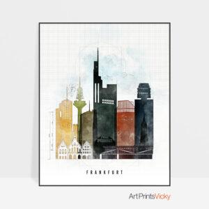 Frankfurt Skyline Print Urban 2