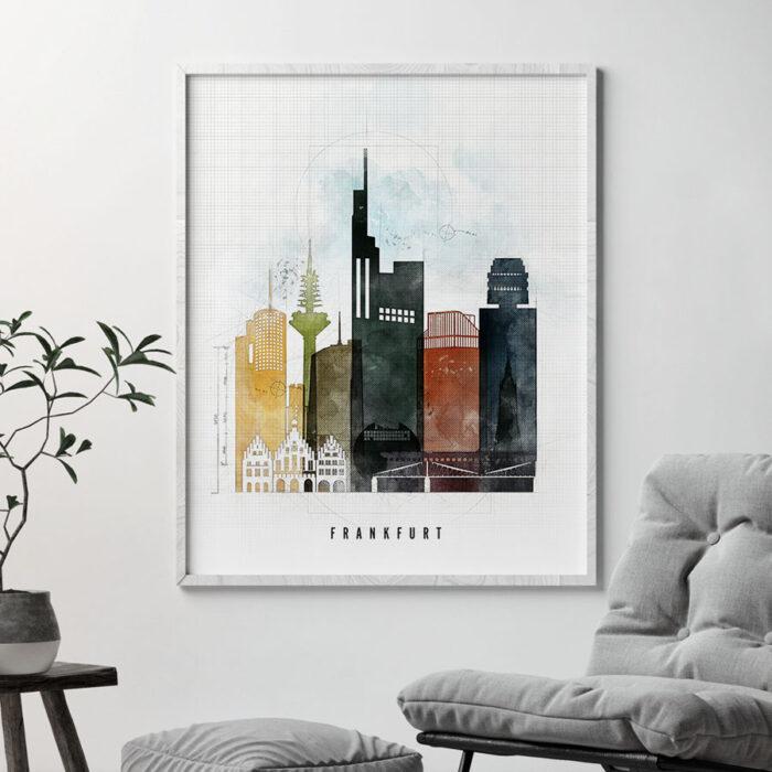 Frankfurt Skyline Print Urban 2 Second