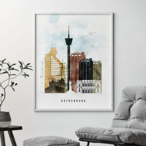 Gothenburg City Print Urban 2 Second