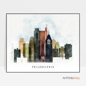 Philadelphia Print Urban 2 Landscape
