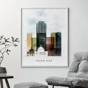 Puerto Rico City Print Urban 2 Second