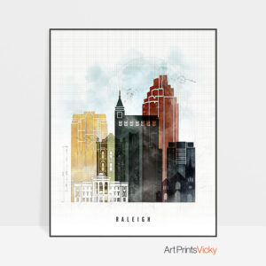 Raleigh Skyline Print Urban 2