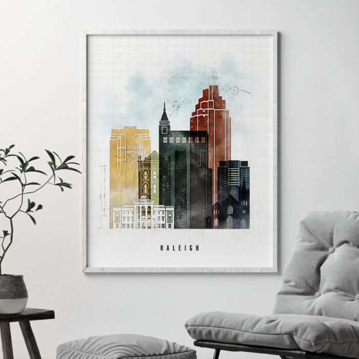 Raleigh Skyline Print Urban 2 Second