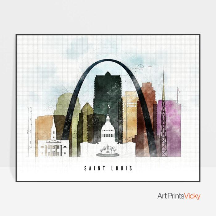 Saint Louis Print Urban 2 Landscape