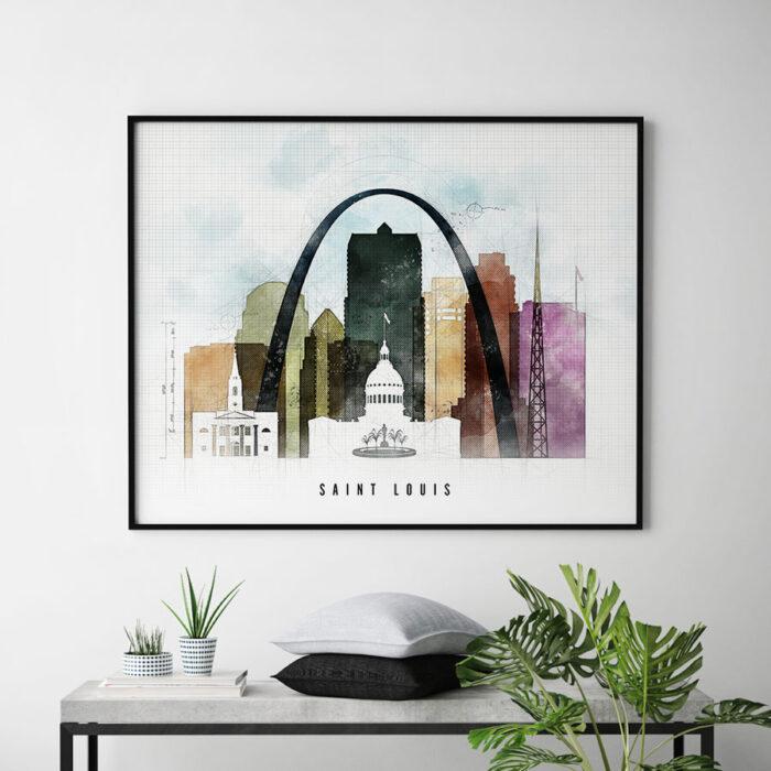 Saint Louis Print Urban 2 Landscape Second