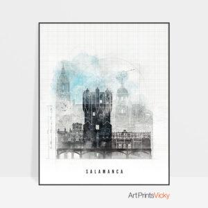Salamanca Skyline Print Urban 1
