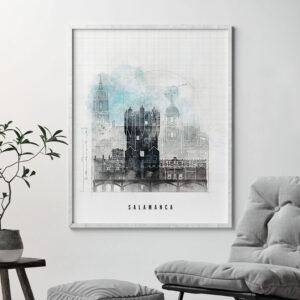 Salamanca Skyline Print Urban 1 Second