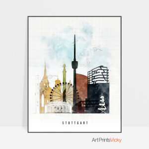 Stuttgart City Print Urban 2