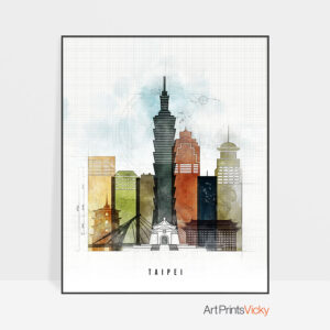 Taipei City Print Urban 2