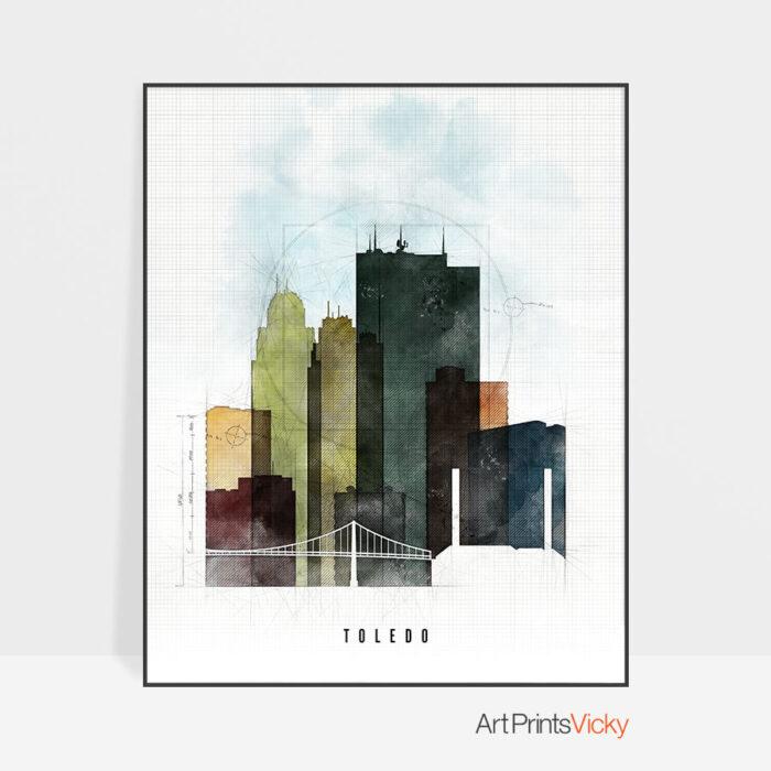 Toledo Skyline Print Urban 2