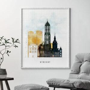 Utrecht City Print Urban 2 Second