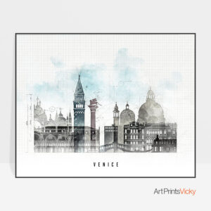 Venice Skyline Print Urban 1