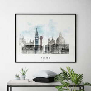 Venice Skyline Print Urban 1 Second