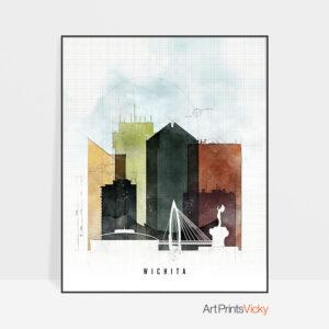 Wichita Skyline Print Urban 2