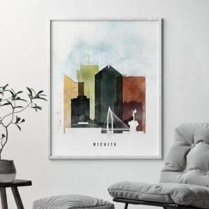 Wichita Skyline Print Urban 2 Second