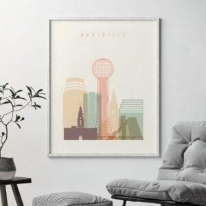 Knoxville Skyline Print Pastel Cream Second