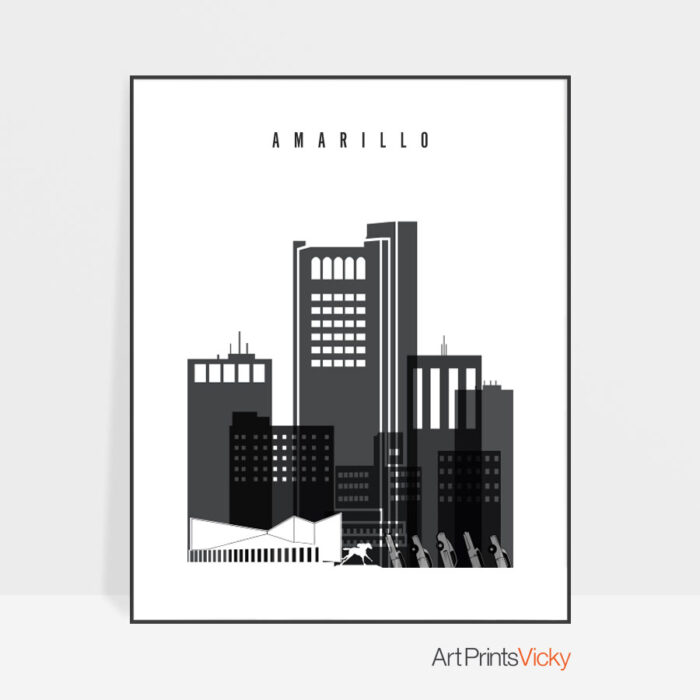 Amarillo Poster Black White