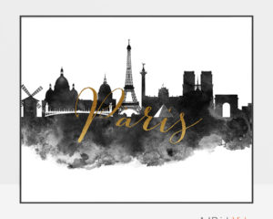 Paris wall art print black and white