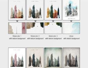 8 from 20 color schemes options ArtPrintsVicky