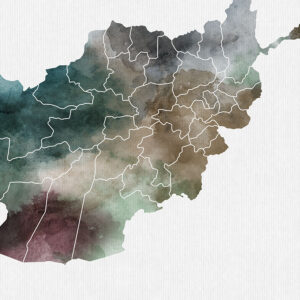 Afghanistan map print detail photo