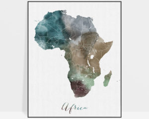 Africa map print