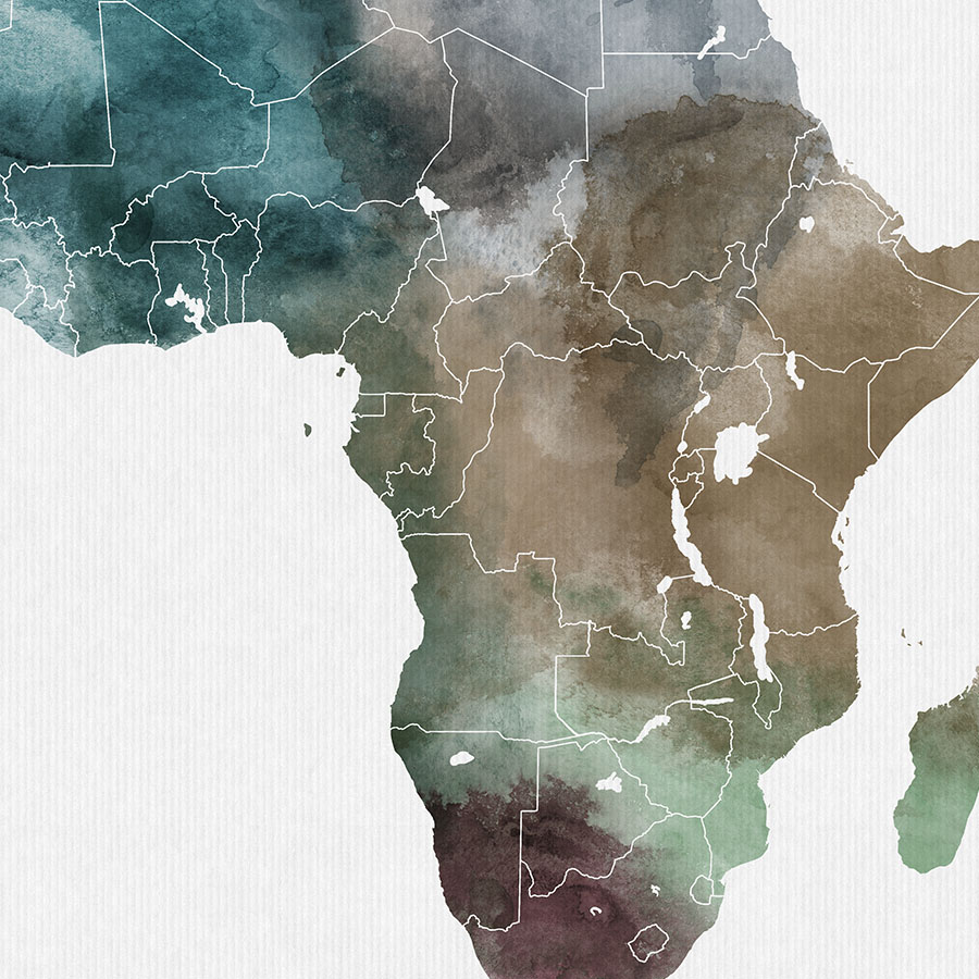 Africa map print detail photo