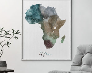 Africa map print second
