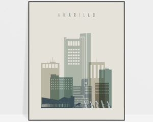 Amarillo print skyline earth tones 1