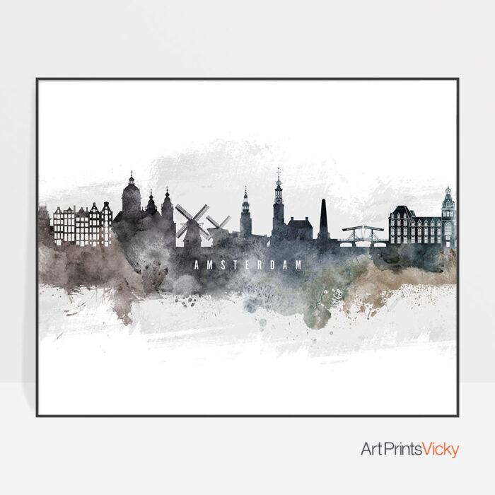 Amsterdam art print watercolor