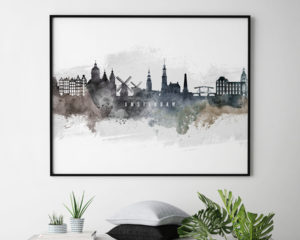Amsterdam art print watercolor second