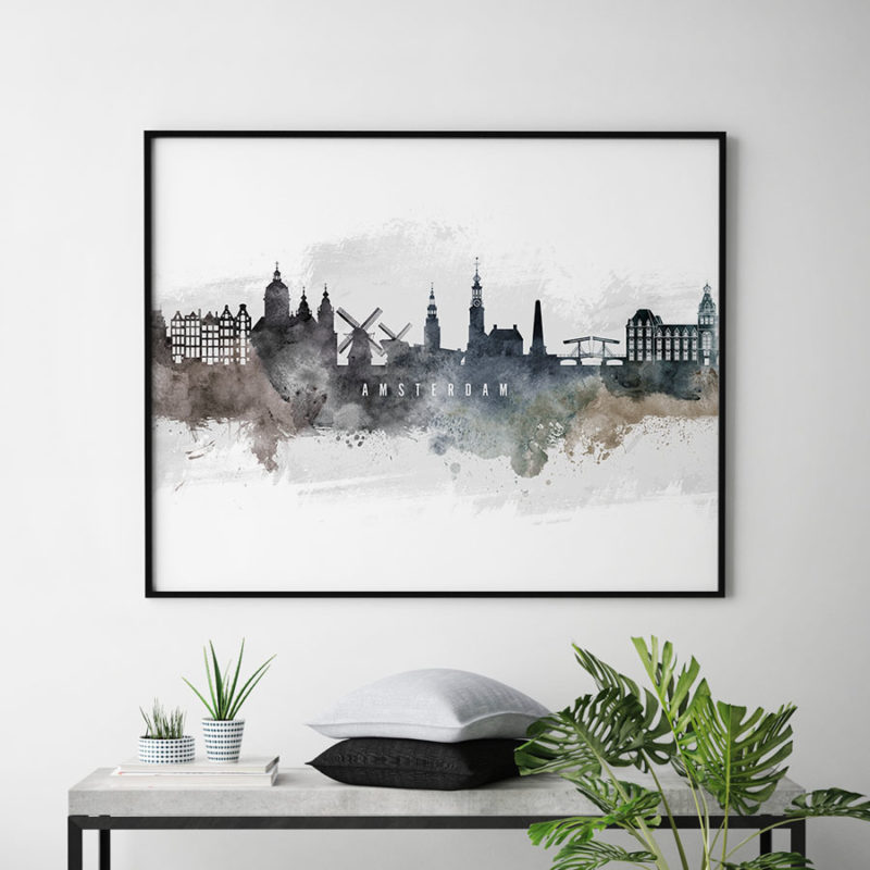 Amsterdam art print watercolor second
