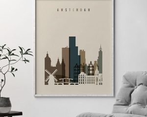 Amsterdam art print earth tones 3 second