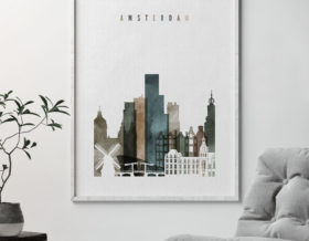 Amsterdam art print watercolor 2 second