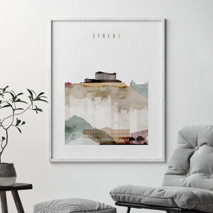 Athens skyline art print second