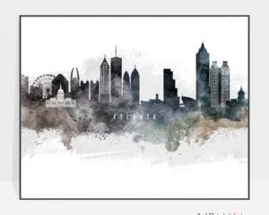 Atlanta art print watercolor