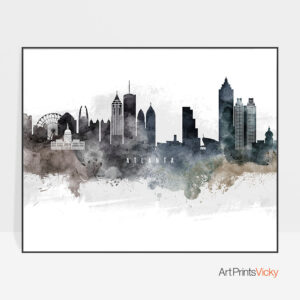 Atlanta art print watercolor