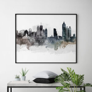 Atlanta art print watercolor second
