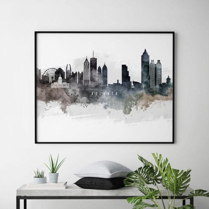Atlanta art print watercolor second