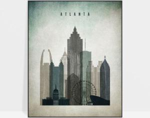 Atlanta poster distressed 3