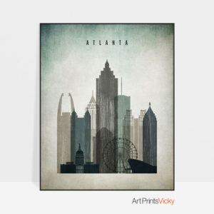 Atlanta poster distressed 3