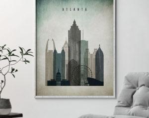 Atlanta poster distressed 3 second