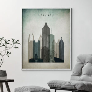 Atlanta poster distressed 3 second