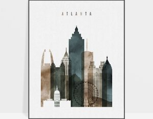 Atlanta art print watercolor 2